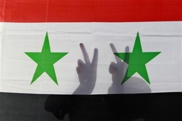 Peace Syrian flag