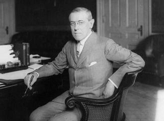 Woodrow Wilson at Desk